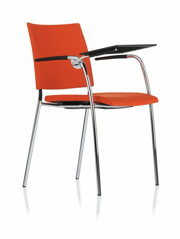 Spira – Armchair 4 legs, w laptop working surface